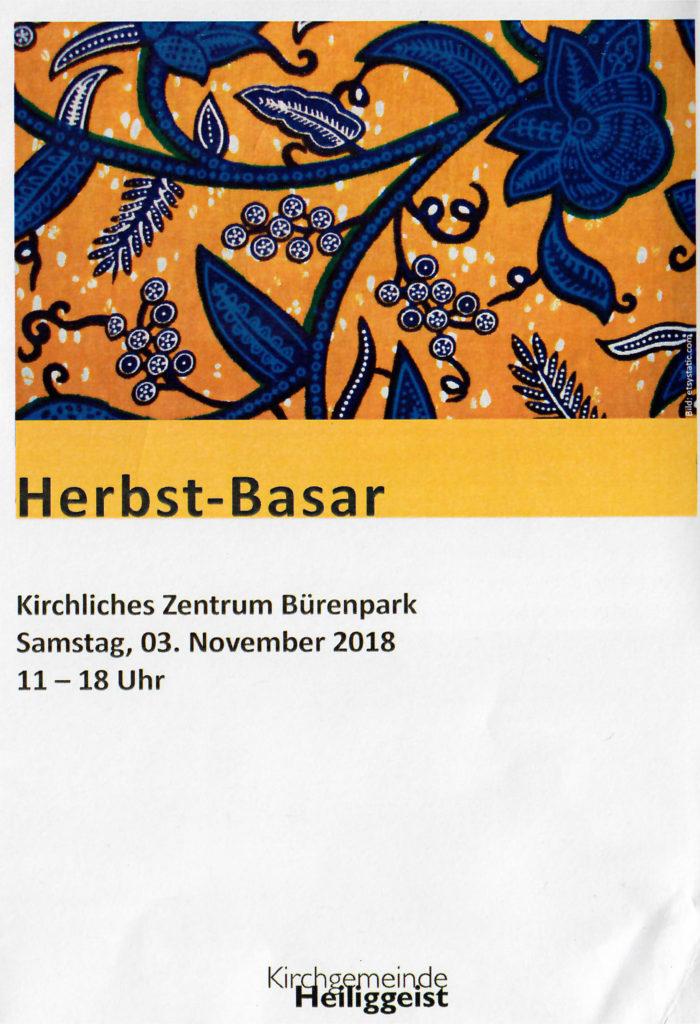 Herbst-Basar im Kirchlichen Zentrum Bürenpark, Bern