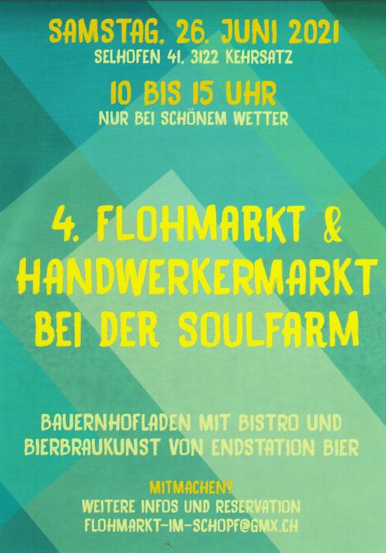 Handwerker- & Flohmarkt in Kehrsatz 2021